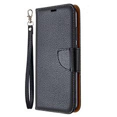 Handytasche Stand Schutzhülle Flip Leder Hülle L01 für Huawei Y7p Schwarz