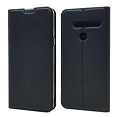 Handytasche Stand Schutzhülle Flip Leder Hülle L01 für LG G8 ThinQ Schwarz