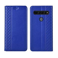 Handytasche Stand Schutzhülle Flip Leder Hülle L01 für LG K51S Blau