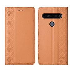 Handytasche Stand Schutzhülle Flip Leder Hülle L01 für LG K51S Orange