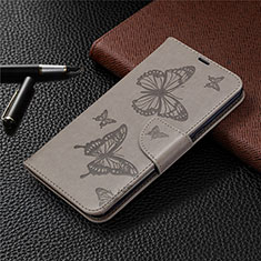 Handytasche Stand Schutzhülle Flip Leder Hülle L01 für LG K61 Grau