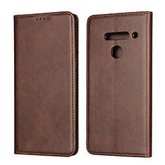 Handytasche Stand Schutzhülle Flip Leder Hülle L01 für LG V50 ThinQ 5G Braun
