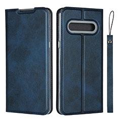 Handytasche Stand Schutzhülle Flip Leder Hülle L01 für LG V60 ThinQ 5G Blau
