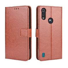Handytasche Stand Schutzhülle Flip Leder Hülle L01 für Motorola Moto E6s (2020) Braun