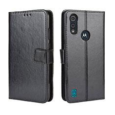 Handytasche Stand Schutzhülle Flip Leder Hülle L01 für Motorola Moto E6s (2020) Schwarz