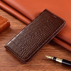 Handytasche Stand Schutzhülle Flip Leder Hülle L01 für Motorola Moto E7 Plus Braun