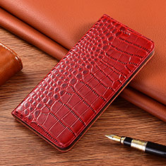 Handytasche Stand Schutzhülle Flip Leder Hülle L01 für Motorola Moto E7 Plus Rot