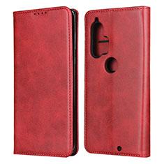 Handytasche Stand Schutzhülle Flip Leder Hülle L01 für Motorola Moto Edge Plus Rot