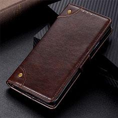 Handytasche Stand Schutzhülle Flip Leder Hülle L01 für Motorola Moto G9 Power Braun