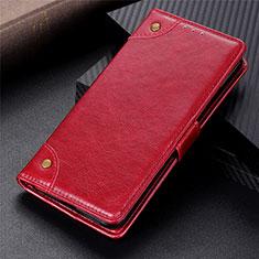 Handytasche Stand Schutzhülle Flip Leder Hülle L01 für Motorola Moto G9 Power Rot
