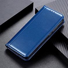 Handytasche Stand Schutzhülle Flip Leder Hülle L01 für Motorola Moto One Fusion Blau