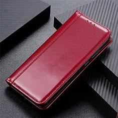 Handytasche Stand Schutzhülle Flip Leder Hülle L01 für Motorola Moto One Fusion Fuchsie