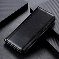 Handytasche Stand Schutzhülle Flip Leder Hülle L01 für Motorola Moto One Fusion Schwarz