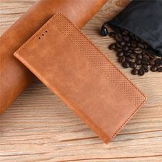 Handytasche Stand Schutzhülle Flip Leder Hülle L01 für Motorola Moto One Zoom Braun