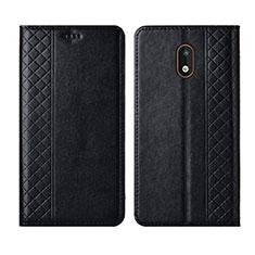 Handytasche Stand Schutzhülle Flip Leder Hülle L01 für Nokia 1.3 Schwarz