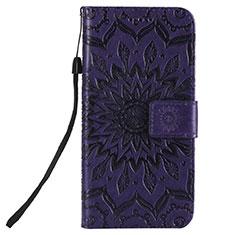 Handytasche Stand Schutzhülle Flip Leder Hülle L01 für Nokia 2.3 Violett