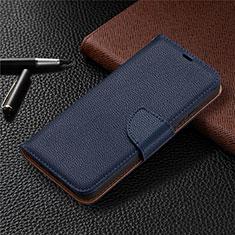 Handytasche Stand Schutzhülle Flip Leder Hülle L01 für Nokia 3.4 Blau