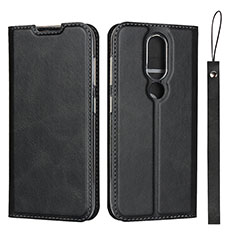 Handytasche Stand Schutzhülle Flip Leder Hülle L01 für Nokia 4.2 Schwarz
