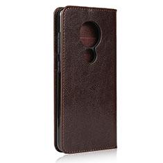 Handytasche Stand Schutzhülle Flip Leder Hülle L01 für Nokia 7.2 Braun