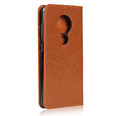 Handytasche Stand Schutzhülle Flip Leder Hülle L01 für Nokia 7.2 Orange
