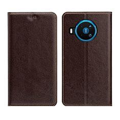 Handytasche Stand Schutzhülle Flip Leder Hülle L01 für Nokia 8.3 5G Braun