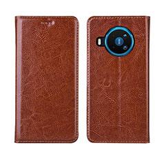 Handytasche Stand Schutzhülle Flip Leder Hülle L01 für Nokia 8.3 5G Orange
