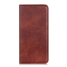 Handytasche Stand Schutzhülle Flip Leder Hülle L01 für Samsung Galaxy A01 Core Braun