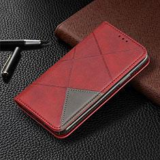 Handytasche Stand Schutzhülle Flip Leder Hülle L01 für Samsung Galaxy A31 Rot