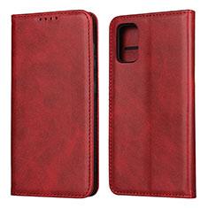 Handytasche Stand Schutzhülle Flip Leder Hülle L01 für Samsung Galaxy A41 Rot