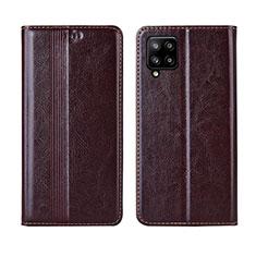 Handytasche Stand Schutzhülle Flip Leder Hülle L01 für Samsung Galaxy A42 5G Braun