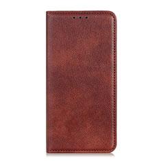 Handytasche Stand Schutzhülle Flip Leder Hülle L01 für Samsung Galaxy M01 Core Braun