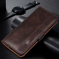Handytasche Stand Schutzhülle Flip Leder Hülle L01 für Samsung Galaxy M30s Braun