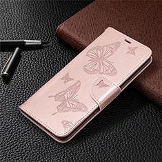 Handytasche Stand Schutzhülle Flip Leder Hülle L01 für Samsung Galaxy S20 FE 5G Rosegold