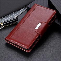 Handytasche Stand Schutzhülle Flip Leder Hülle L01 für Samsung Galaxy S21 Ultra 5G Braun