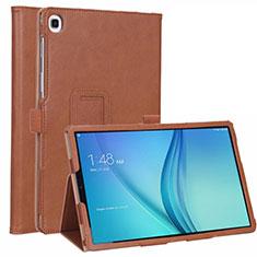 Handytasche Stand Schutzhülle Flip Leder Hülle L01 für Samsung Galaxy Tab S5e 4G 10.5 SM-T725 Braun