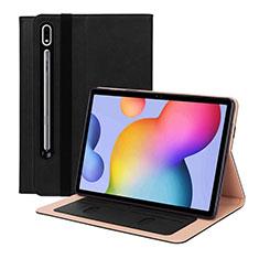 Handytasche Stand Schutzhülle Flip Leder Hülle L01 für Samsung Galaxy Tab S7 11 Wi-Fi SM-T870 Schwarz