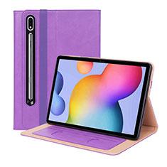 Handytasche Stand Schutzhülle Flip Leder Hülle L01 für Samsung Galaxy Tab S7 Plus 5G 12.4 SM-T976 Violett