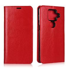 Handytasche Stand Schutzhülle Flip Leder Hülle L01 für Sharp AQUOS Sense4 Plus Rot
