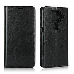 Handytasche Stand Schutzhülle Flip Leder Hülle L01 für Sharp AQUOS Sense4 Plus Schwarz