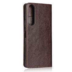 Handytasche Stand Schutzhülle Flip Leder Hülle L01 für Sony Xperia 1 II Braun