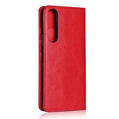 Handytasche Stand Schutzhülle Flip Leder Hülle L01 für Sony Xperia 1 II Rot
