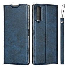 Handytasche Stand Schutzhülle Flip Leder Hülle L01 für Sony Xperia 10 II Blau