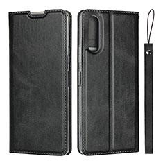Handytasche Stand Schutzhülle Flip Leder Hülle L01 für Sony Xperia 10 II Schwarz