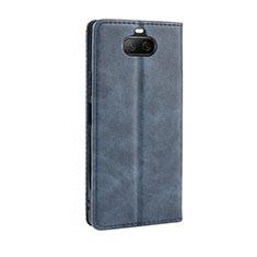 Handytasche Stand Schutzhülle Flip Leder Hülle L01 für Sony Xperia 8 Lite Blau