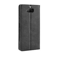 Handytasche Stand Schutzhülle Flip Leder Hülle L01 für Sony Xperia 8 Schwarz