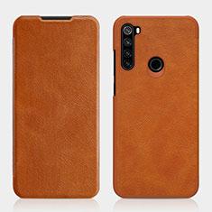 Handytasche Stand Schutzhülle Flip Leder Hülle L01 für Xiaomi Redmi Note 8 Braun