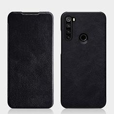 Handytasche Stand Schutzhülle Flip Leder Hülle L01 für Xiaomi Redmi Note 8T Schwarz