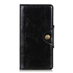 Handytasche Stand Schutzhülle Flip Leder Hülle L01 für Xiaomi Redmi Note 9 Pro Max Schwarz