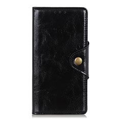 Handytasche Stand Schutzhülle Flip Leder Hülle L01 für Xiaomi Redmi Note 9 Pro Schwarz