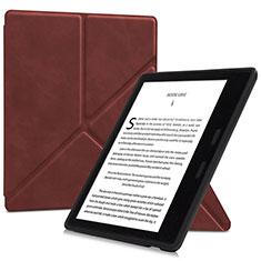 Handytasche Stand Schutzhülle Flip Leder Hülle L02 für Amazon Kindle Oasis 7 inch Braun